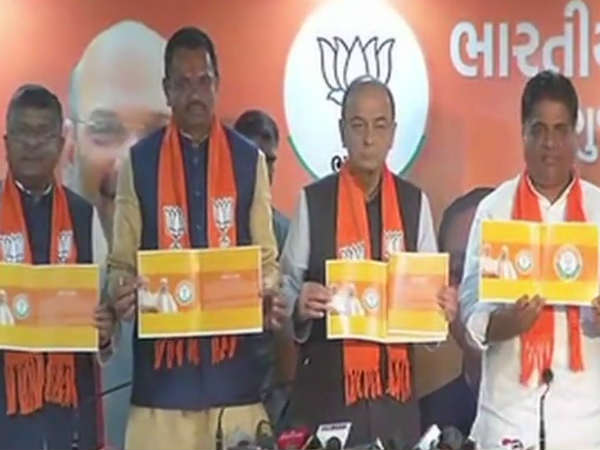 Arun Jaitley Releases Bjp S Manifesto Gujarat Assembly Elections