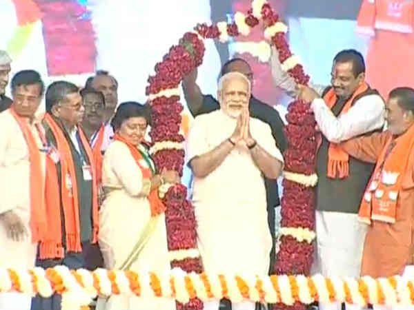 Pm Narendra Modi Addresses Public Meeting Bhavnagar Gujarat