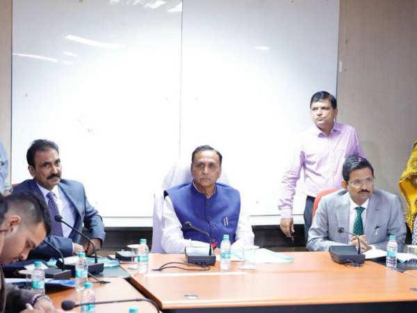 Cyclone Okhi Vijay Rupani Chairs Meeting Surat Oversee Situation