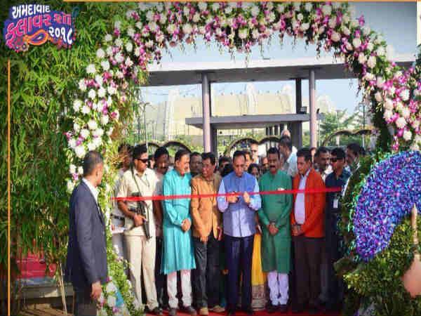 Ahmedabad Cm Vijay Rupani Inaugurated Flower Show At Riverfront