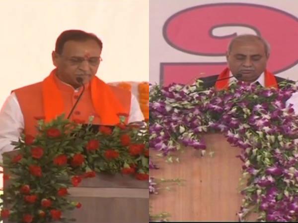 Vijay Rupani And Nitin Patel Took Oath Today