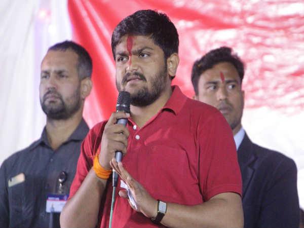 Hardik Patel At Vadali Here He Raised Farmer Issues