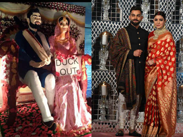 Virat Kohli Anushka Sharma Reception Photos Special Details