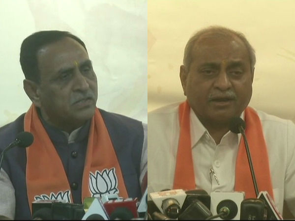 Vijay Rupani Nitin Patel Addressed The Media After The Annou