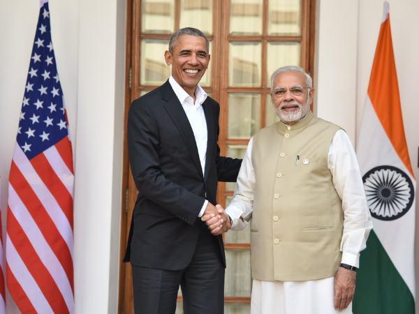 Former Us President Barack Obama Met Prime Minister Narendra In New Delhi