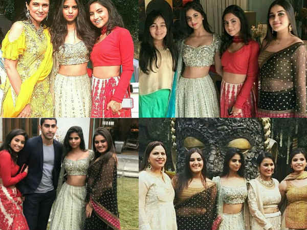 Lovely Srk S Daughter Suhana Khan Adds Glitter To A Wedding With Her Traditional Avatar