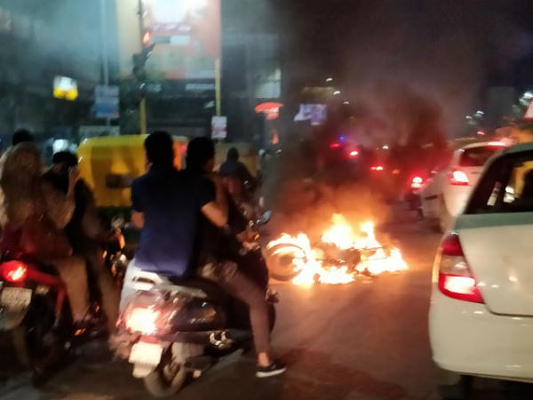Bikes Burnt Shops Vandalised Ahmedabad Karni Sena Says No Need To Protest
