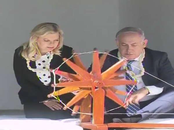 Pm Modi Benjamin Netanyahu Arrive Ahmedabad Roadshow