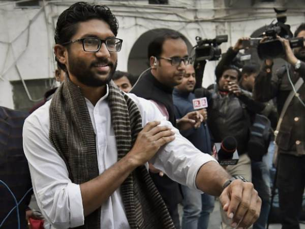 Members Of The Valmiki Community Protested Against Dalit Leader Mla Jignesh Mevani