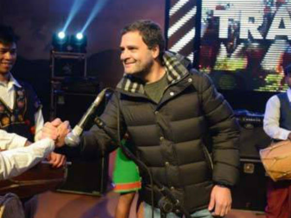 Rahul Gandhi Singing We Shall Overcome Meghalaya With Mukul Sangama