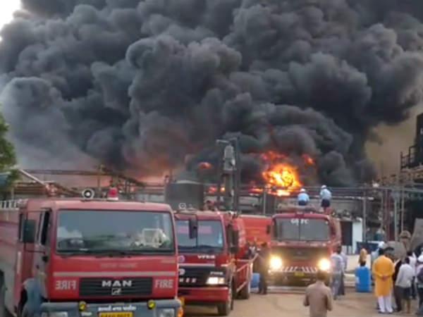 Vadodara Major Fire A Chemical Company