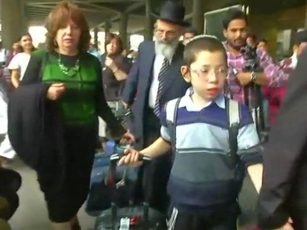 Baby Moshe Holtzberg Arrives Mumbai He Lost His Parents 26 11 Mumbai Terror Attack Nariman House