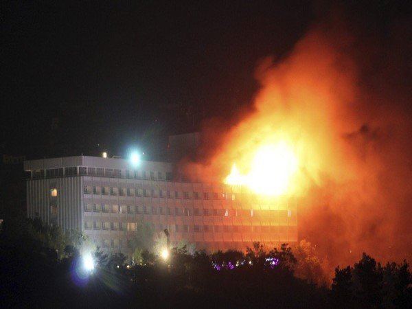 Kabul Gunmen Attack Intercontinental Hotel Several Dead Many Injured