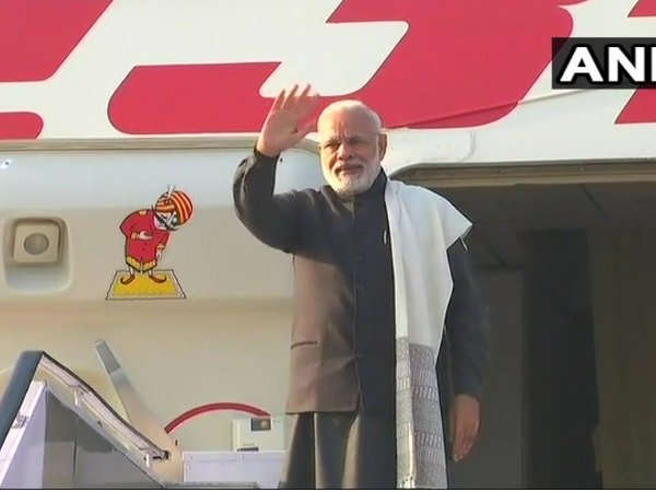 Pm Narendra Modi Leaves Davos Switzerland Take Part World Economic Forum