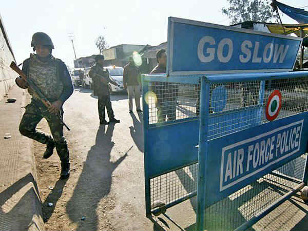 An Unidentified Individual Was Shot The Security Forces Budgam Air Force Station Jammu Kashmi