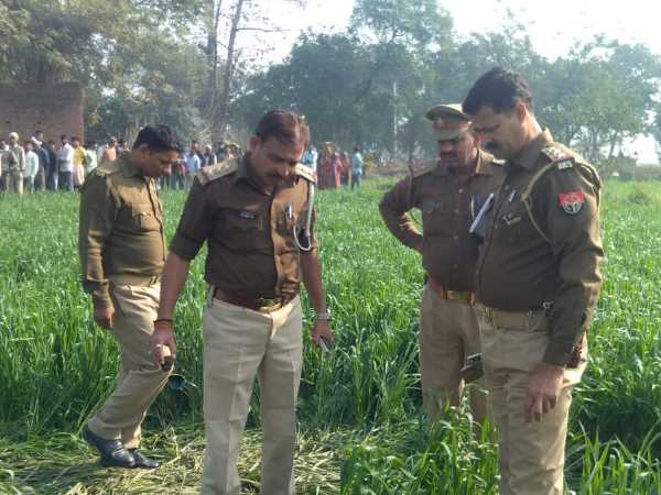 Dead Body Found Field In Bhadohi