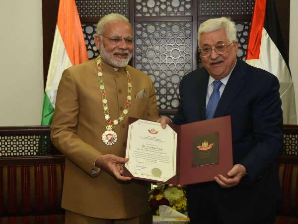 Prime Minister Narendra Modi Palestine Tour