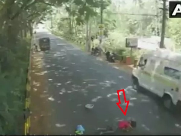 Old Fisherwoman Hit By A Vehicle Lay Bleeding In A Busy Road In Kerala