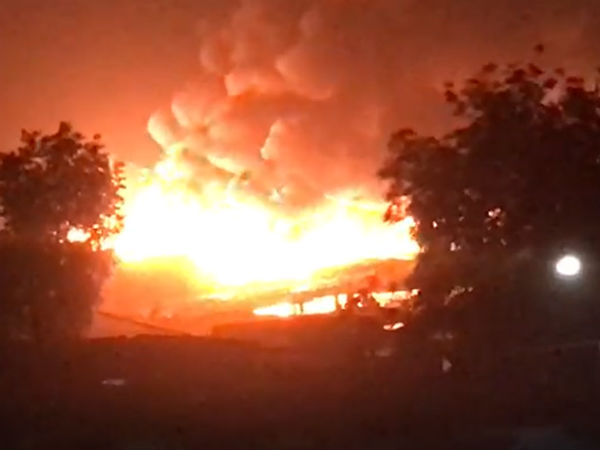 A Fire Broke In The Slum Area Near Chandola Lake More Than