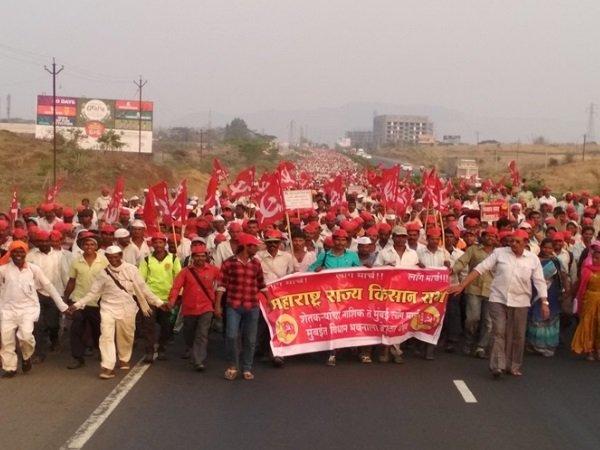 Protesting Farmers Mumbai