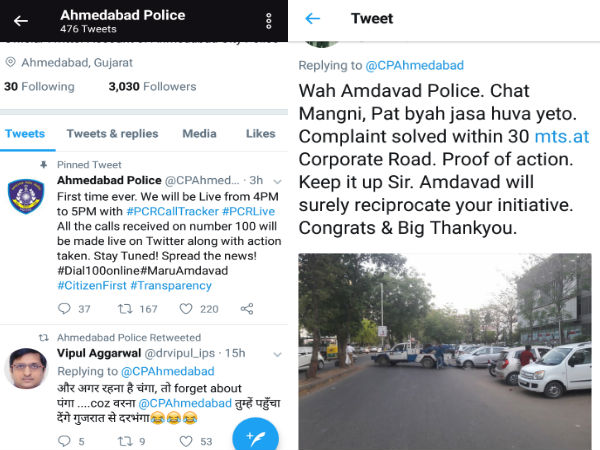 Ahmedabad Traffic Police Will Solve The Complaint With Twitter Live
