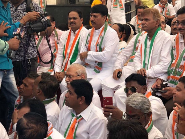 Congress Has Organized Day Long Dharna Against The Anti Dalit Policies