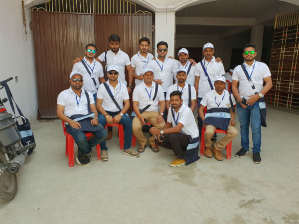 Total 15 Volunteers From Dahod District Reached Bihar