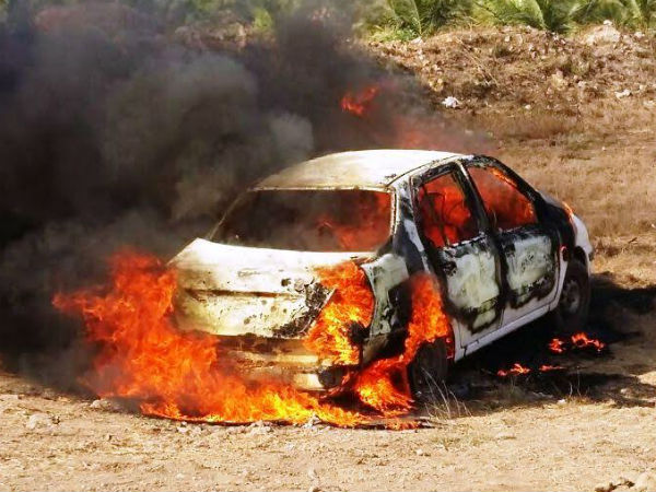 Gauvrakshak Fires Car One Man Arrested