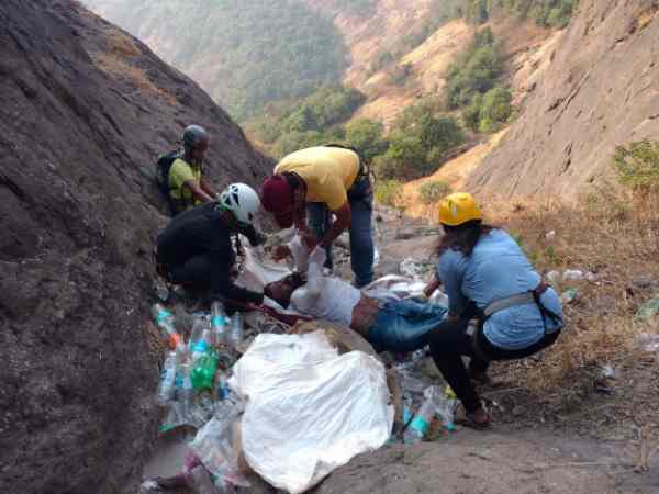 A Youth Fell Four Hundred Feet Ditch Pune