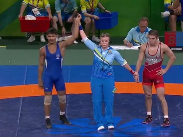Wrestler Rahul Aware Wins Gold Medal Men S Freestyle 57kg Category