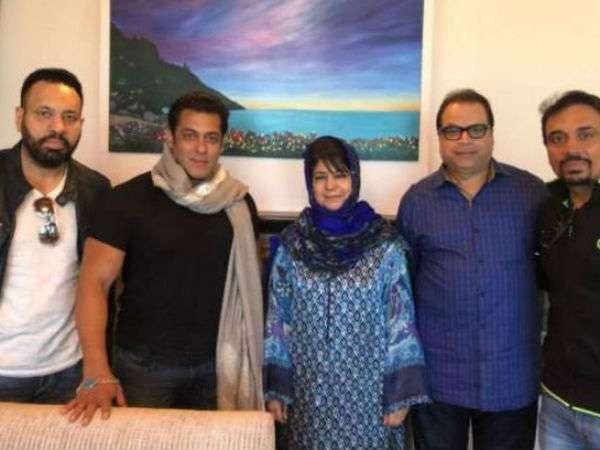 Kashmir Race 3 Shoot Salman Khan Meets Cm Mehbooba Mufti Picture Here