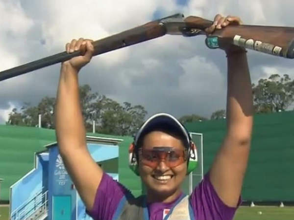 Cwg 2018 Shreyasi Singh Clinches Gold India Womens Double T