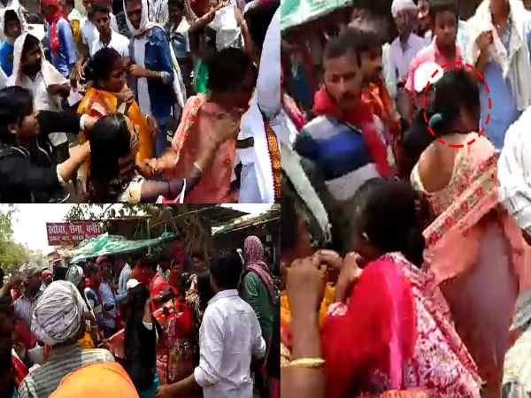 Buxar Mother With Her Daughter Beaten Lady Who Stolen Her Gold Chain