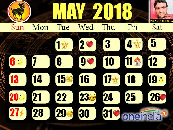 Jyotish Celender May