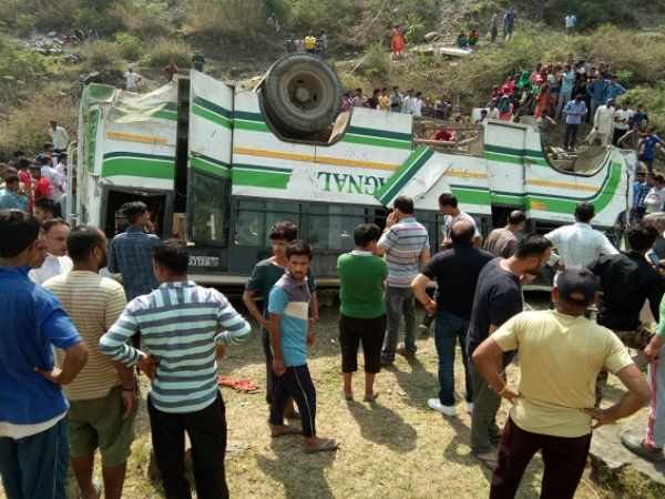 Many Killed When Bus Fell Ditch Himachal Pradesh