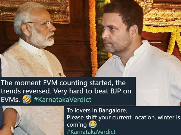 Karnataka Election Results 2018 Funny Social Media Reaction On Latest Trends On Bjp Congress And Jds