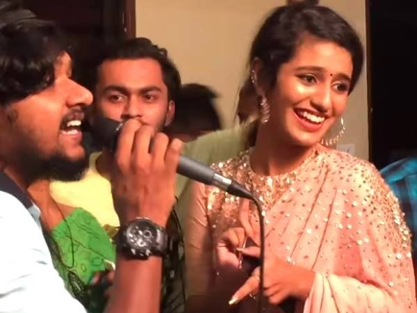 Priya Prakash Varrier New Video Goes Viral On The Internet After Winking Watch Her Singing Talent