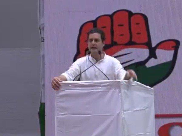 Congress President Rahul Gandhi Addresses The Jan Swaraj Sammelan At Raipur