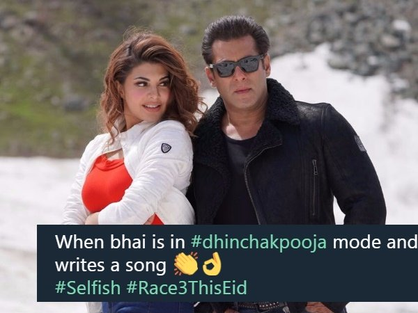 Salman Khan Jacqueline Fernandez New Song Selfish From Race 3 Trolled On Social Media For Its Lyrics