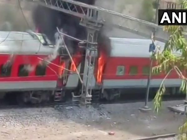 Andhra Pradesh Express Catches Fire Near Gwalior