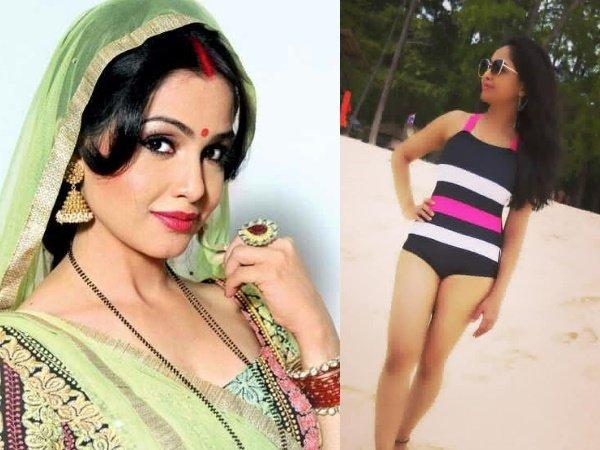 Bhabi Ji Ghar Par Hain S Angoori Bhabhi Shubhangi Atre Stuns In A Bikini Photo Gone Viral