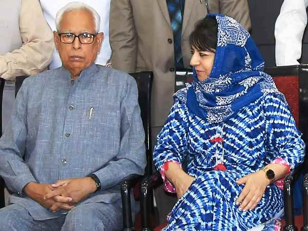Jammu Kashmir Mehbooba Mufti Meet Governor Nn Vohra Before All Party Meeting