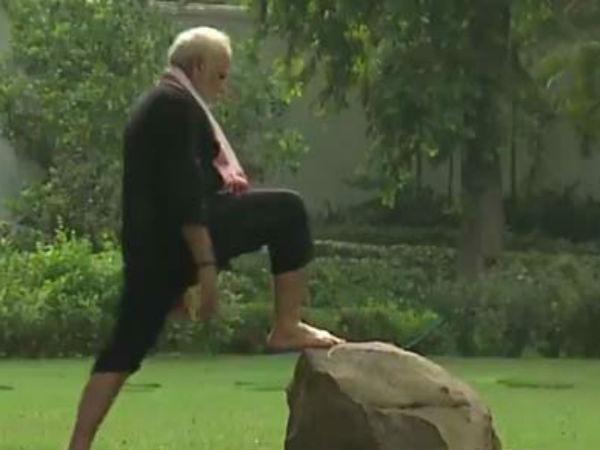 Pm Modi Shares His Fitness Challenge Video Nominates Hd Kumaraswamy
