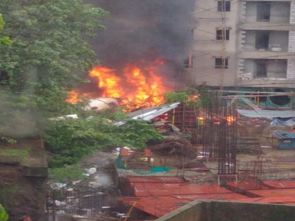 A Chartered Plane Crashes An Open Area Mumbai Ghatkopar