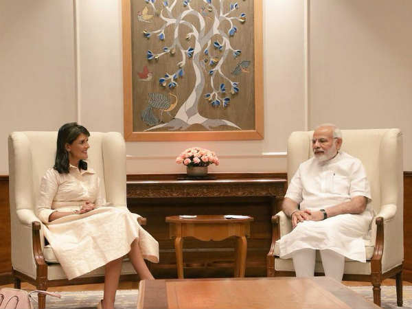 Us Ambassador Un Nikki Haley Has Met Prime Minister Narendra
