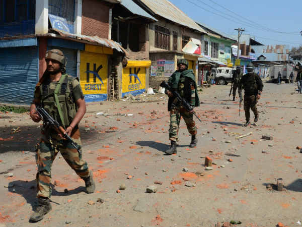 Grenade Attack On Police Party At Batapora Chowk Shopian District Jammu Kashmir