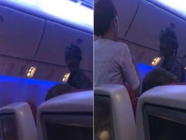Video Beggar Aboard A Flight From Karachi To Bangkok
