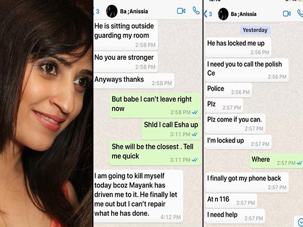 Air Hostess Anissia Batra Frantically Texted Her Friend Seek