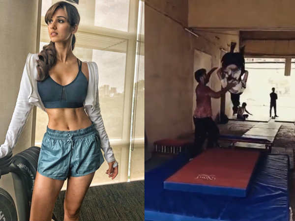 Disha Patani Continues Train Hard Bharat Plays Circus Gymnast