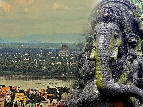 Famous Rock Fort Temple Of Ganesha Tiruchirappalli Tamilnadu